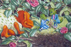 Illustratie voor prentenboek: Leander